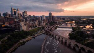 Skyline of Minneapolis, Minnesota, where the presenters from the Many Faces of Community Health conference live