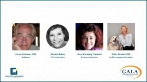 Panelist from CLI's webinar about the pandemic and the global language industry. Hosted by GALA.
